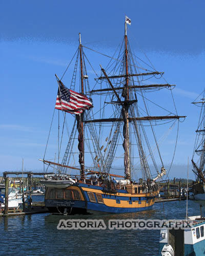 SM-295, tall ship, hawaiian chieftan, harbor, port, ilwaco, washington