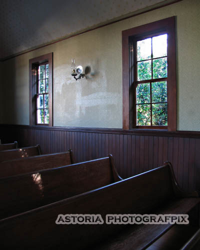 SM-313, oysterville, church, pews