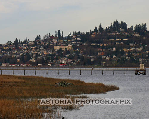 SM-333, south slope, astoria, oregon, youngs bay, bridge, columbia river, hillside, houses