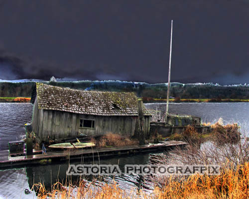 SM-377, fishing shack, gas shack, brownsmead, oregon, slough, river