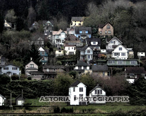 SM-395, Astoria Photografpix, oregon, hillside, victorian, houses, east