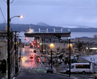 SM-484, ship, winter, streets, waterfront, columbia river, astoria, oregon