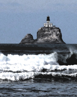 SM-493, tillamook rock, lighthouse, ocean, surf, cannon beach, indian cove, oregon