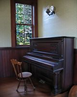 Astoria Photografpix, Oysterville, Washington church piano, SM-312