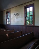 Astoria Photografpix, Oysterville Washington Church pews, SM-313